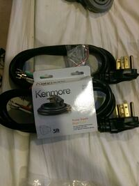 2 Kenmore 5ft Dryer Cords  4 Wire/30 Amp 55 km