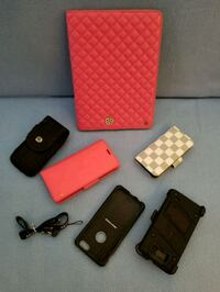 black and red smartphone cases