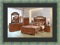 11pc Ashley cherry bedroom set with mattress Temple Hills