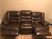 Brown Leather Couch Grimes, 50111