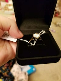 14K Gold Plated CZ Ring.  New Edmonton, T6M 2G7