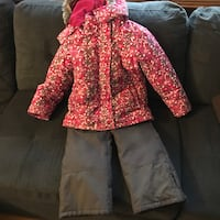 Size 7 girls winter jacket and snow pant set Kitchener, N2M