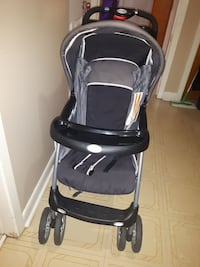 black and gray stroller
