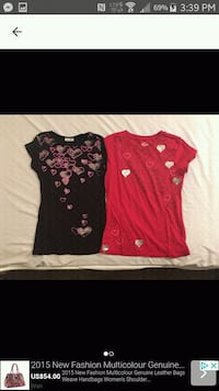 $5 ea. Small black  & red medium. Stretchy Toronto, M1E 3T1