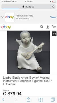 Rare - L.Ladro collection/angel paying harp  Hamilton, L9C 1J9