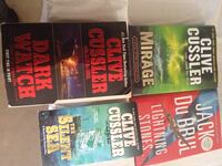 four Clive Cussler book collection 480 km