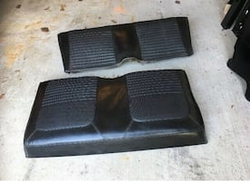 1967/68 mustang coupe rear seat upper and lower