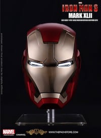IRON MAN 3 - MK 42 Iron Man Helmet - Marvel Licensed 1/1 Movie Prop Replica Washington, 20012