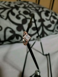Size 7 silver ring coated in rose gold Calgary, T2W 0G7