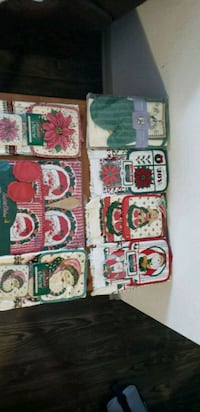 Assorted holiday pot holders and dish towels Round Rock, 78665