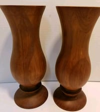 Vintage Solid Wood Heavy Candle Holders Haslet, 76052