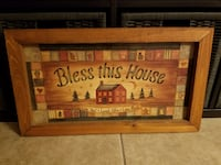 """Bless This House"" woodframed sign Santee"