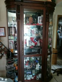 8ft. 19th century AWESOME China cabinet