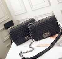 Quilted new black baby boy leather crossbody bags Toronto, M9B 3C7