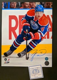 Taylor Hall Signed 11x14 Photo Autograph COA NHL Deux-Montagnes, J7R 7H5