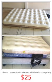 Coleman Queen Size Air Mattress with built in storage bag 多伦多