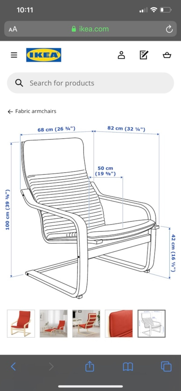 Ikea Paong Arm Chair with Seat Cushion 2d047721-3b99-41f9-baf0-00d4af5b0426