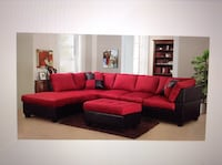 Red sectional ,ottoman note included Houston, 77055