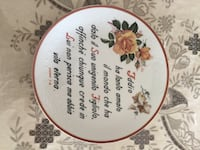 Vintage decorative plate with verse from Scripture, in Italian. Toronto, M9C 3S9