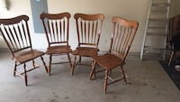 two brown wooden windsor chairs Sachse, 75048