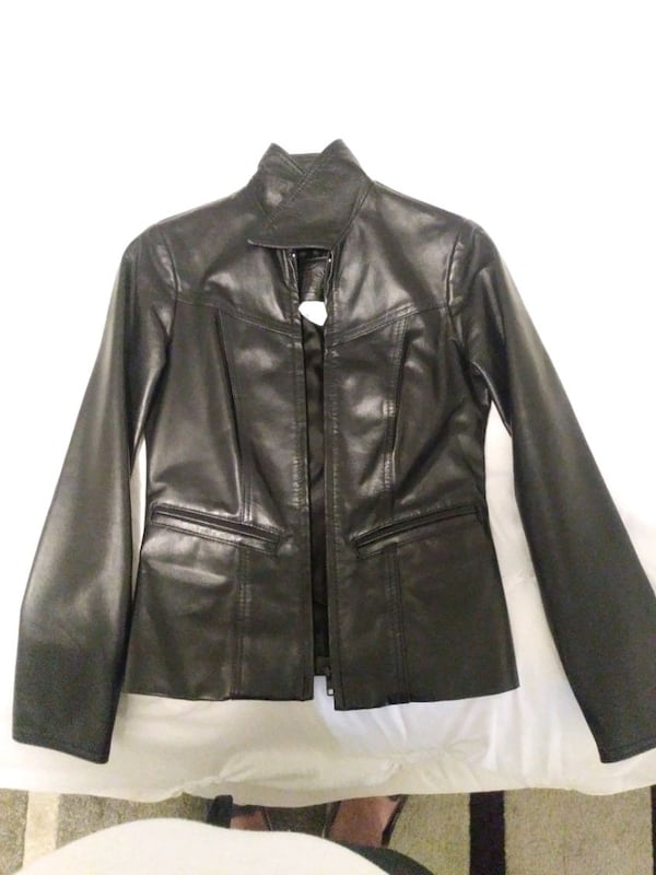 Size 0 woman's leather jacket asking for 500 OBO 7df609c1-9706-4de9-a53a-9f8557ddf6a0