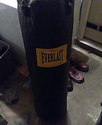 black Everlast hanging heavy bag