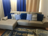 Leather right facing sectional couch Vancouver, V5Z
