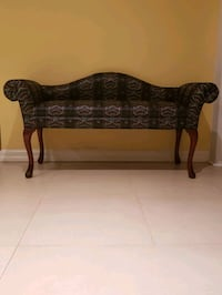 Wooden upholstered bench Vaughan