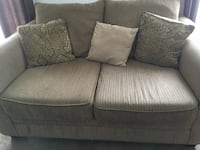 Brown fabric love seat Kitchener, N2E 3P5
