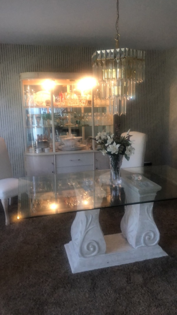 Used White Wash Dining room set for sale in Wilder - letgo