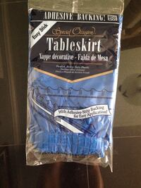 Brand New set 12 Tableskirts and 7 Rolls of Tablecover. Paid $390.