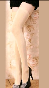 Women SEALED NUDE thigh high sock tights One Size