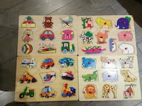 Toddler puzzles. GUC. Sfpf home. Vaughan, L4K 5K5