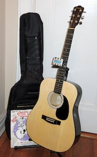 Johnson JG-610N Dreadnought acoustic guitar & Bag+ Queens