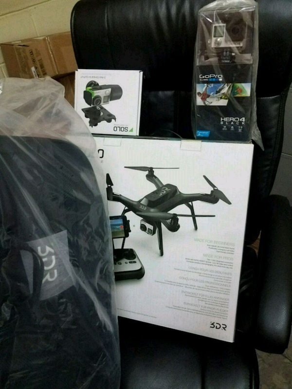 Solo 3DR Drone + GoPro Black, Brand New