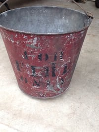 Very rare (N.Y.C.S) New York Central Systems railroad fire brigade bucket  Dover, 17315