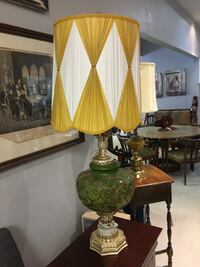 Vintage Green and Mustard Lamps 544 km