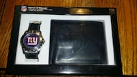 NY Giants black wallet/watch set