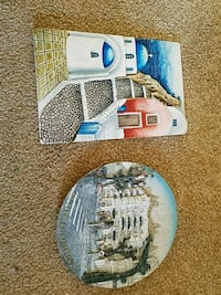 Ceramic decorations from mykonos and Barcelona  Luling
