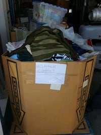 Boxes of mixed winter clothes men and women Bakersfield, 93305