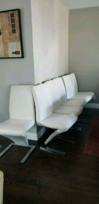 6 real leather dining chairs Burlington, L7P 2Z2
