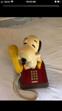 Vintage Snoopy & Woodstock phone