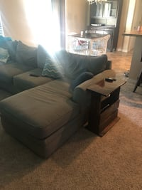 Sofa sectional (blueish green color) Meridian, 83646