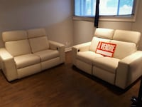 white leather 3-seat sofa and loveseat Montréal, H8N 0A2