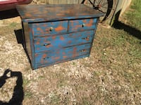 blue and brown wooden dresser Saltillo, 38866
