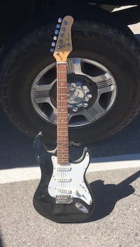 White and black stratocaster electric guitar Acton, 93510