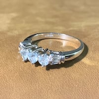 Vintage 10k White Gold & Aquamarine Ring Ashburn