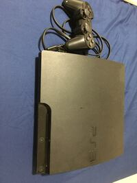 Black sony ps3 slim console with controller Brampton