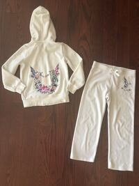 Juicy Couture girls velour track suit (retail $200) worn once 6/7 yrs Toronto, M9P 1P7