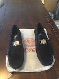 pair of black Versace suede loafers Kitchener, N2E 4J5